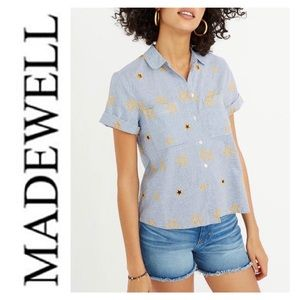 Madewell Stars and Stripes Button Front Sh…